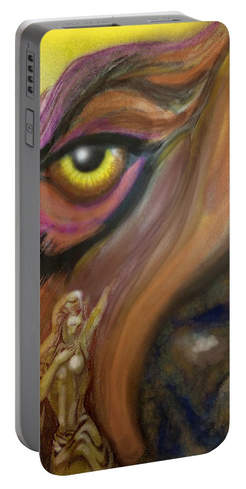 Dream Portable Battery Charger featuring the painting Dream Image 3 by Kevin Middleton