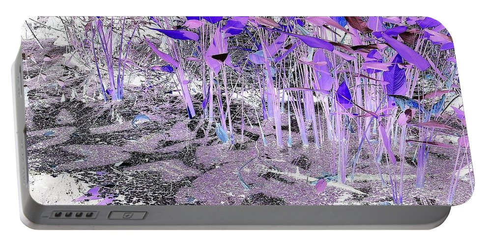 Inverted Color Portable Battery Charger featuring the digital art Dream-like by John Hintz