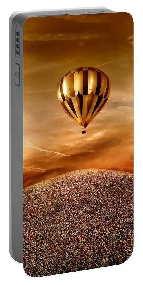 Golden Portable Battery Charger featuring the photograph Dream by Jacky Gerritsen