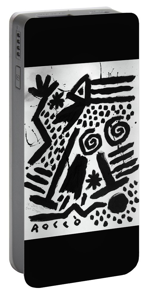 Rocco Satoshi Portable Battery Charger featuring the painting Dream Walking by Rocco Satoshi