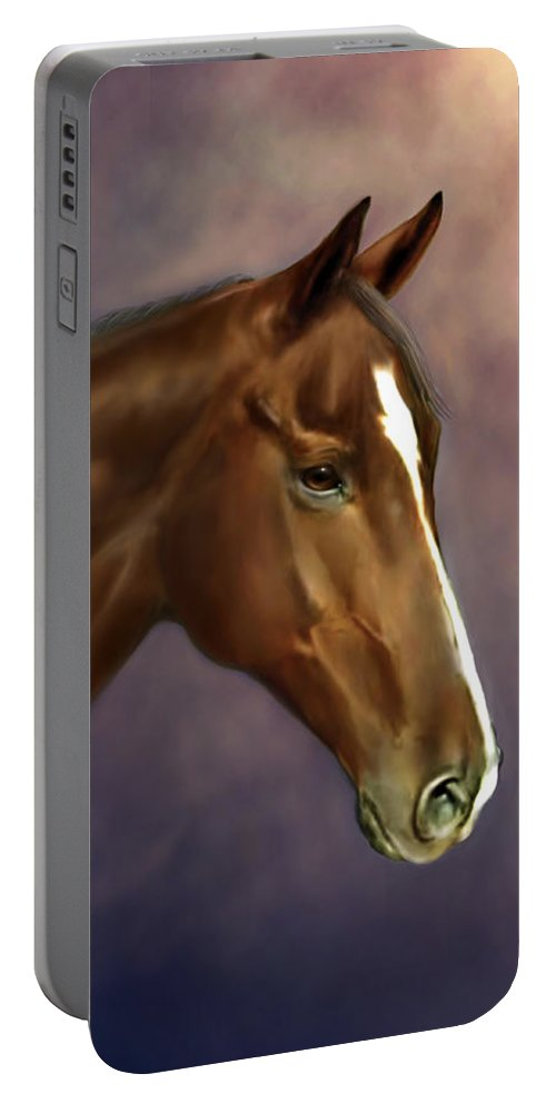 Bhymer Portable Battery Charger featuring the painting Dreamer by Barbara Hymer
