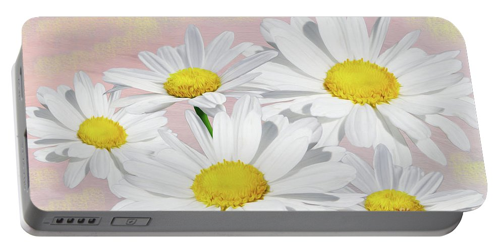 Daisy Portable Battery Charger featuring the photograph Dreaming Of Daisies by Laura D Young