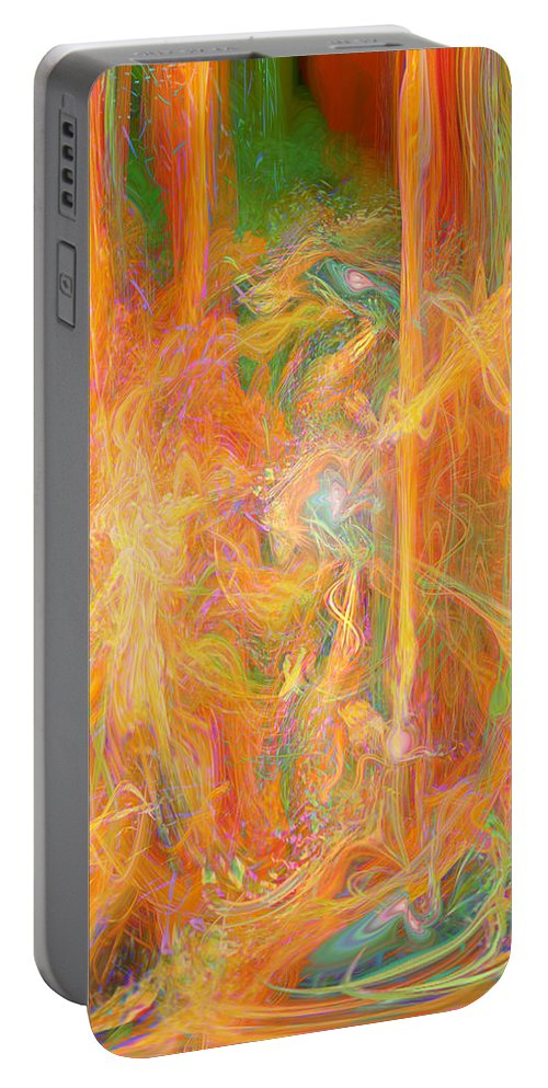 Dreams In Color Art Portable Battery Charger featuring the digital art Dreams In Color by Linda Sannuti
