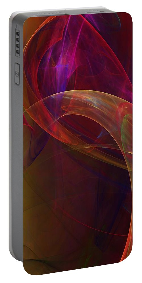 Fine Art Portable Battery Charger featuring the digital art Dreams Of Fish And Other Things by David Lane