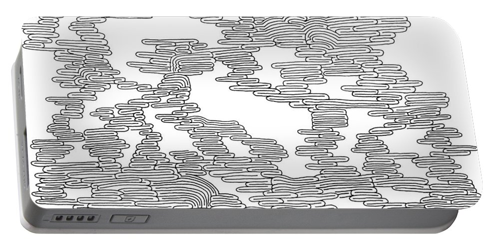 Mazes Portable Battery Charger featuring the drawing Dreams by Steven Natanson