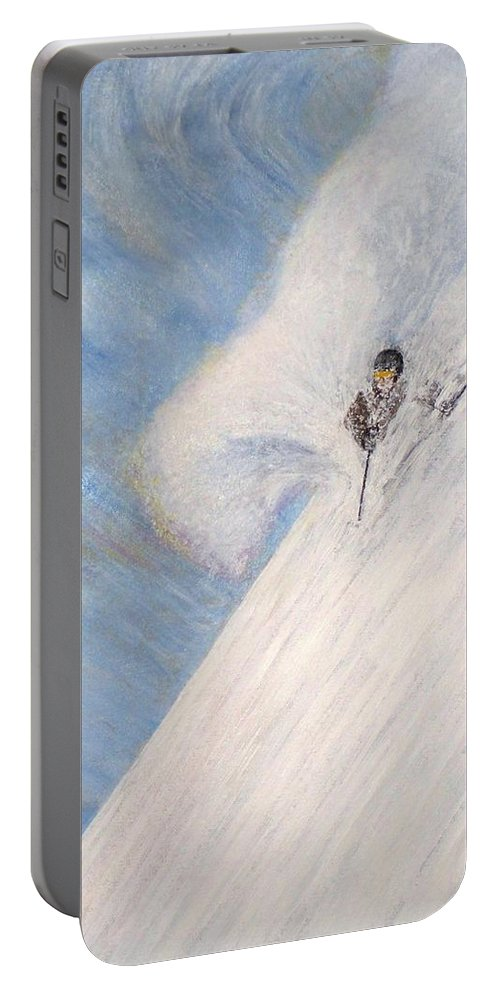 Landscape Portable Battery Charger featuring the painting Dreamsareal by Michael Cuozzo