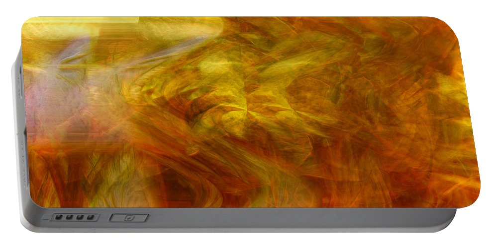 Abstract Art Portable Battery Charger featuring the digital art Dreamstate by Linda Sannuti