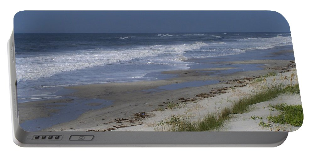 Ocean Portable Battery Charger featuring the photograph Dreamy Beach In North Carolina by Teresa Mucha