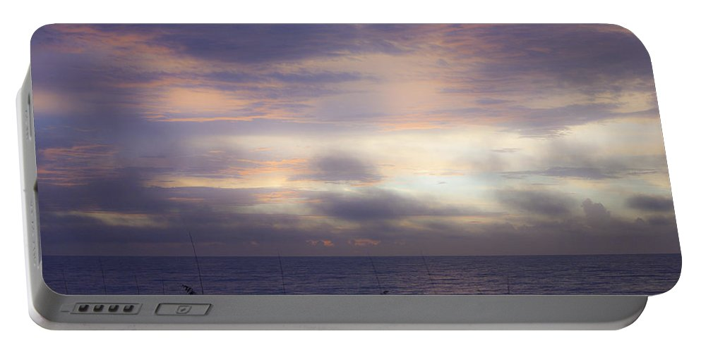 Sunrise Portable Battery Charger featuring the photograph Dreamy Blue Atlantic Sunrise by Teresa Mucha