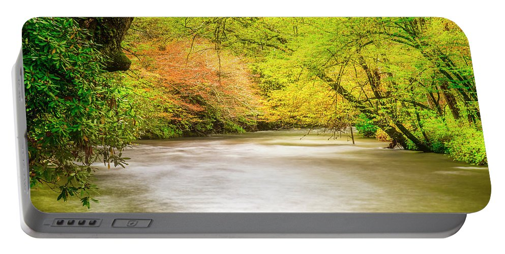 Stream Portable Battery Charger featuring the photograph Dreamy Days by Andy Crawford