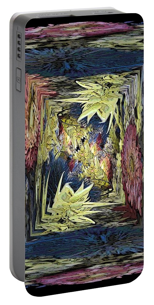 Dried Portable Battery Charger featuring the digital art Dried 2 by Tim Allen