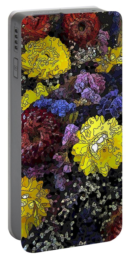 Abstract Portable Battery Charger featuring the digital art Dried Delight 3 by Tim Allen