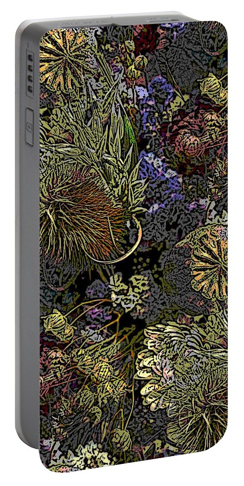 Dried Portable Battery Charger featuring the digital art Dried Delight by Tim Allen