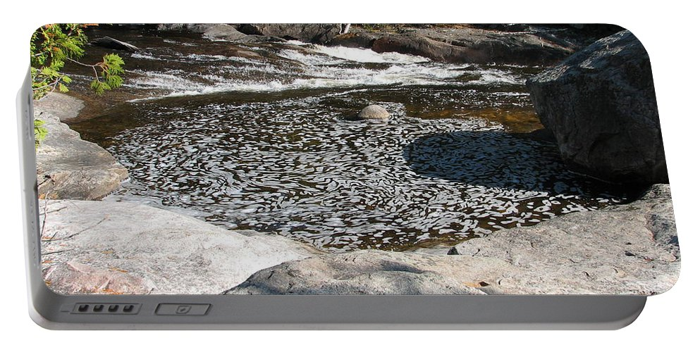 River Portable Battery Charger featuring the photograph Drifting Dreams by Kelly Mezzapelle