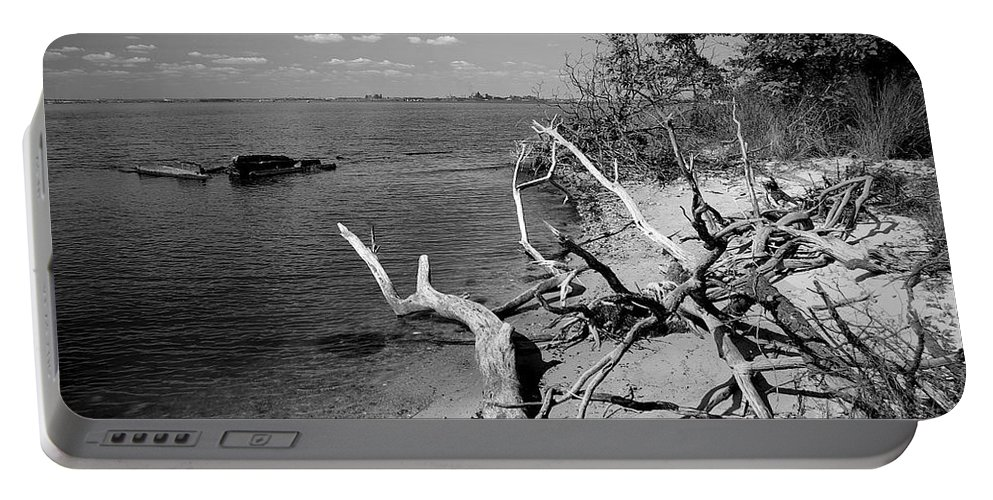 2d Portable Battery Charger featuring the photograph Driftwood by Brian Wallace