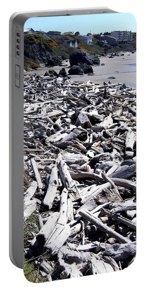 Driftwood Portable Battery Charger featuring the photograph Driftwood By The Ton by Will Borden