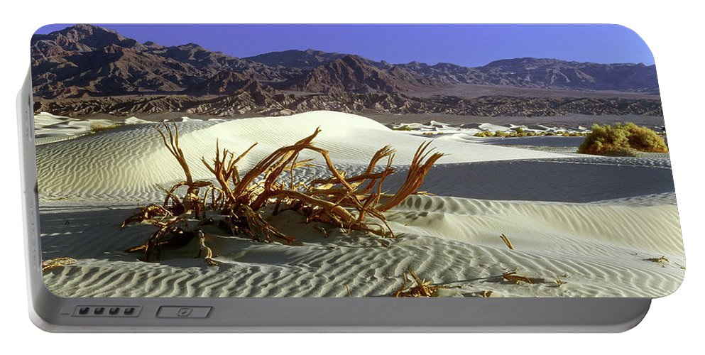 Sand Portable Battery Charger featuring the photograph Driftwood Dune by Jim And Emily Bush