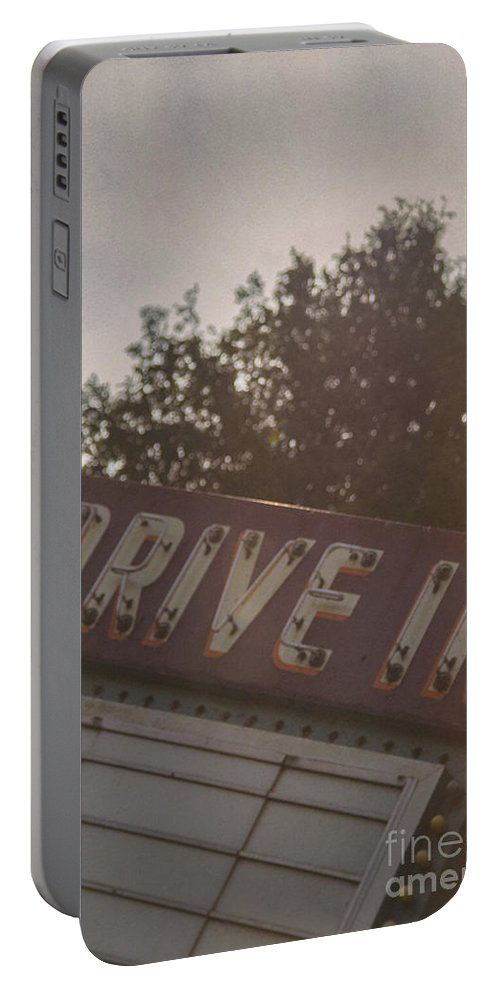Drive Portable Battery Charger featuring the photograph Drive In II by Margie Hurwich