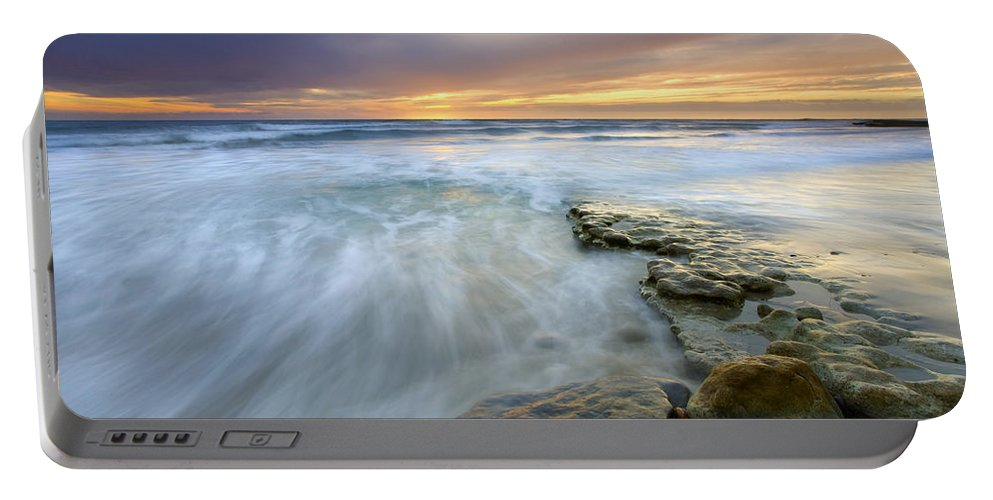 Rocks Portable Battery Charger featuring the photograph Driven Before The Storm by Mike Dawson