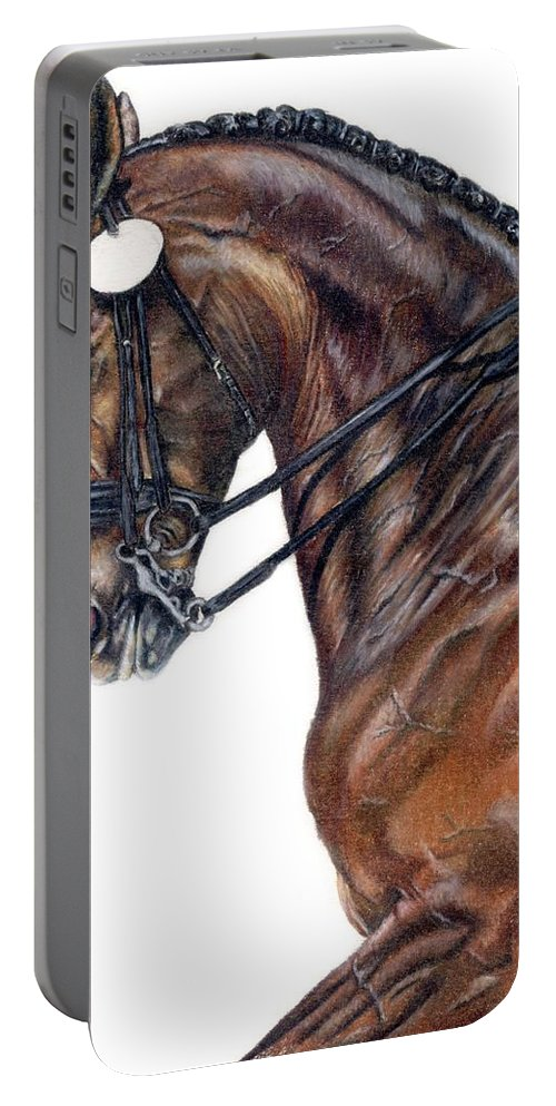 Horse Portable Battery Charger featuring the drawing Driven by Kristen Wesch
