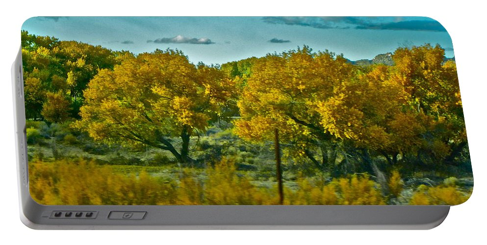 Sky Portable Battery Charger featuring the photograph Driving Foliage by Gwyn Newcombe