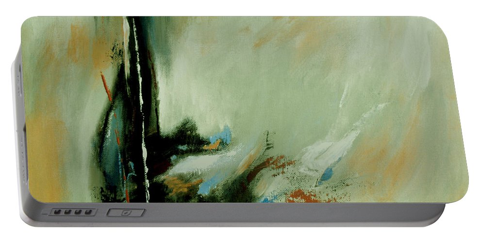 Abstract Portable Battery Charger featuring the painting Drowning by Ruth Palmer
