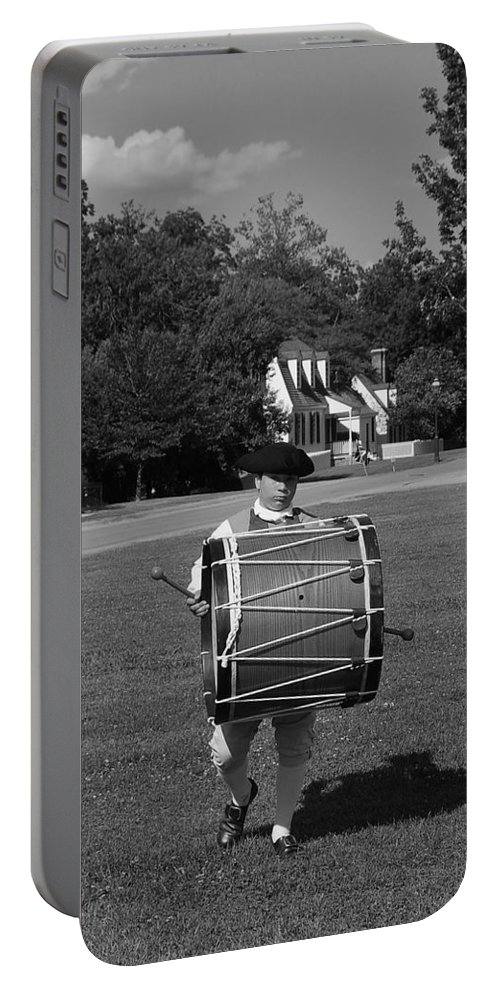 Colonial Portable Battery Charger featuring the photograph Drummer Boy by Eric Liller