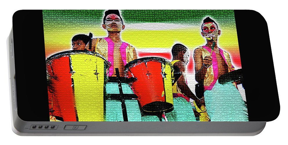 Drums Portable Battery Charger featuring the photograph Drums by Lei De Leon