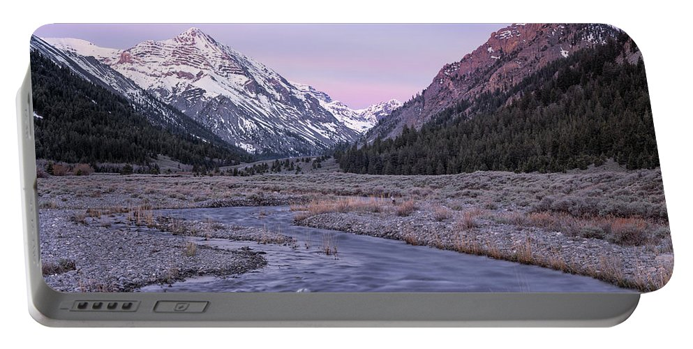 Nature Portable Battery Charger featuring the photograph Dry Creek by Leland D Howard