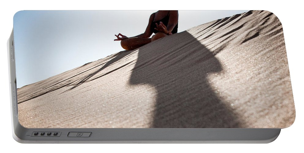 Yoga Portable Battery Charger featuring the photograph Dry Meditation by Scott Sawyer