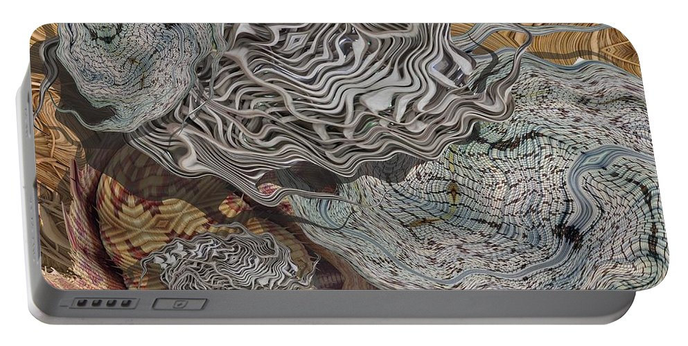 Digital Art Portable Battery Charger featuring the digital art Dry Organics by Ron Bissett