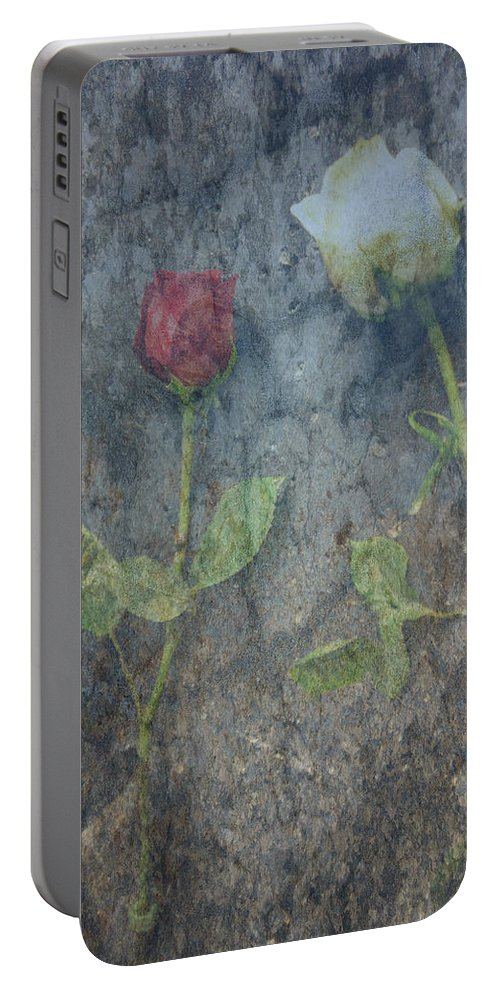 Roses Portable Battery Charger featuring the photograph Duality by Jim Cook