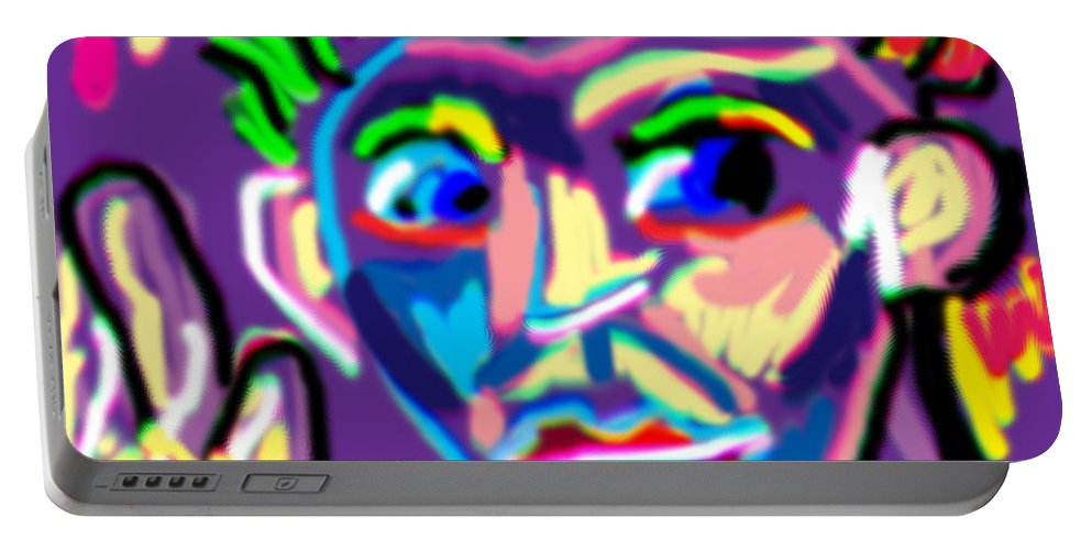 Man Portable Battery Charger featuring the digital art Dude Doodle by Blind Ape Art