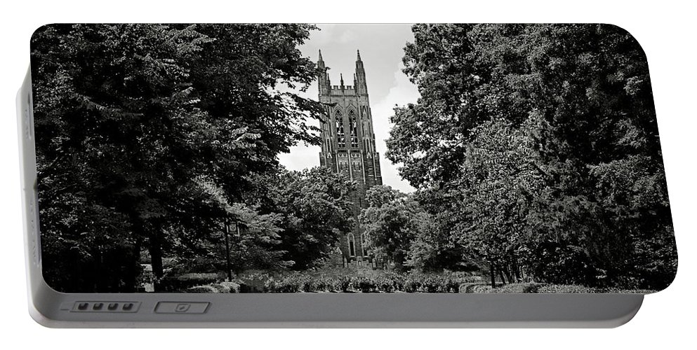 Duke Portable Battery Charger featuring the photograph Duke University Chapel by Jessica Brawley