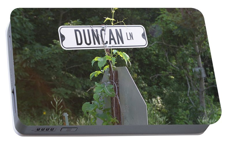 Rural Portable Battery Charger featuring the photograph Duncan Ln by Bjorn Sjogren