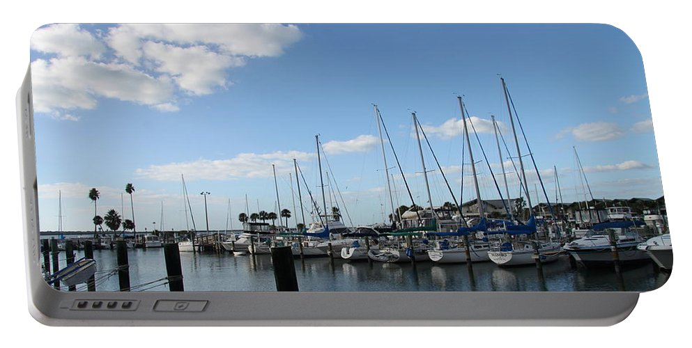 Dunedin Portable Battery Charger featuring the photograph Dunedin Marina I by Christiane Schulze Art And Photography