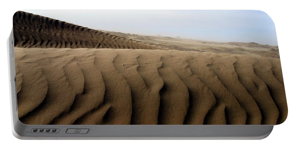 Sand Dunes Portable Battery Charger featuring the photograph Dunes Of Alaska by Anthony Jones