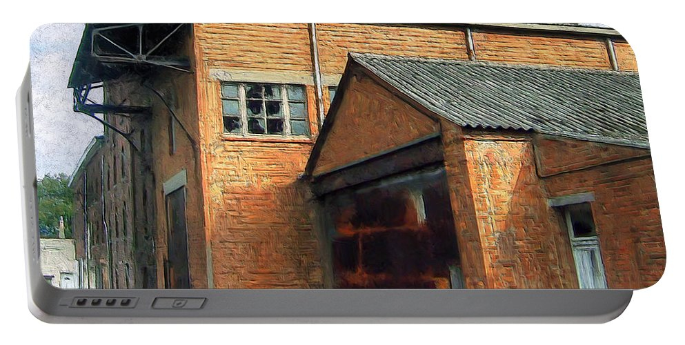 Old Foundry Building Portable Battery Charger featuring the painting Dunkirk Foundry by Dominic Piperata
