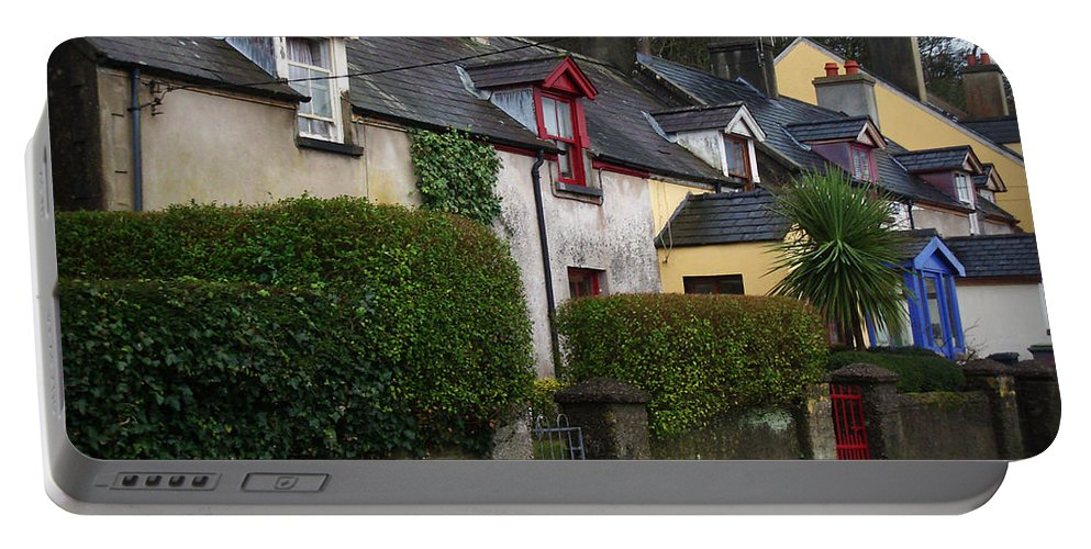 Ireland Portable Battery Charger featuring the photograph Dunmore Houses by Tim Nyberg