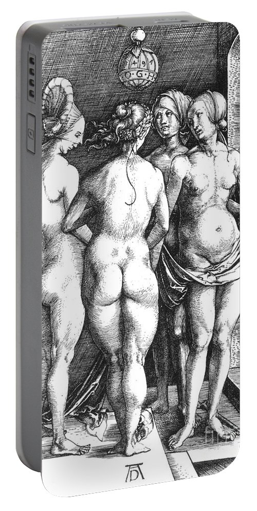 1497 Portable Battery Charger featuring the photograph Durer Four Witches, 1497. For Licensing Requests Visit Granger.com by Granger