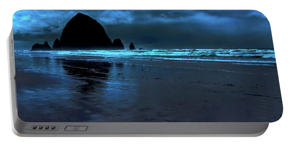 Dusk At Cannon Beach Portable Battery Charger featuring the photograph Dusk At Cannon Beach by David Patterson