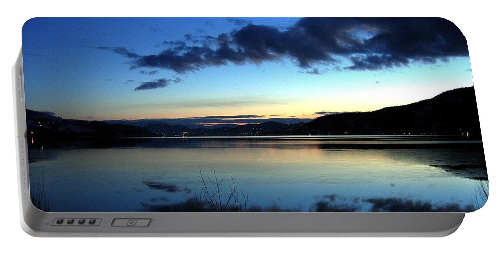 Dusk Portable Battery Charger featuring the photograph Dusk In December by Will Borden