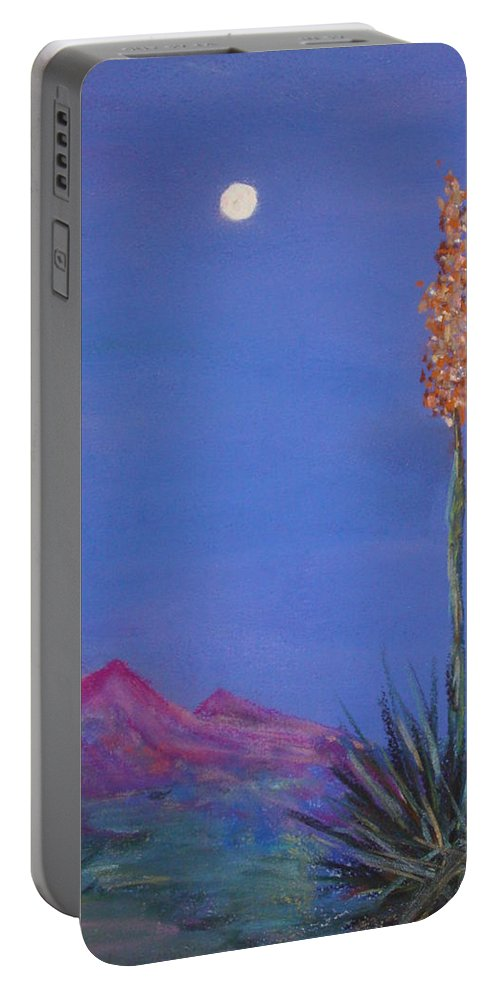 Evening Portable Battery Charger featuring the painting Dusk by Melinda Etzold