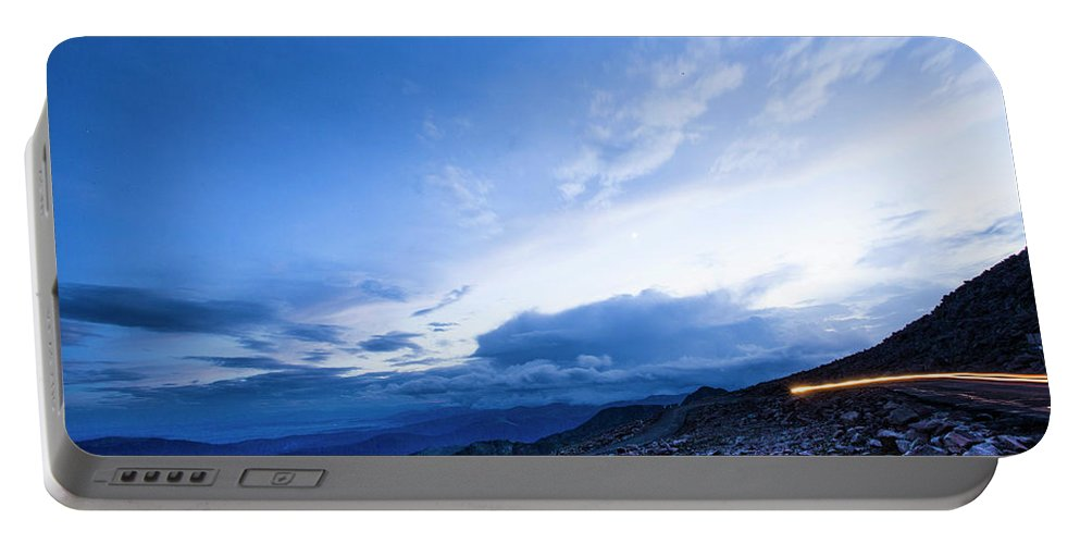 Colorado Portable Battery Charger featuring the photograph Dusk On Mount Evans by Angie Harris