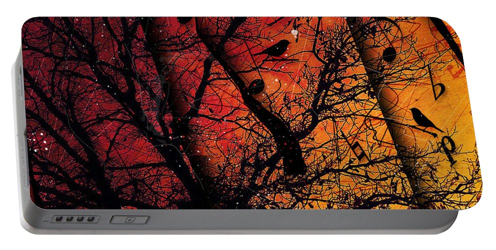 Music Art Portable Battery Charger featuring the digital art Dusk Song by Gary Bodnar