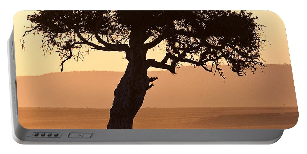 Africa Portable Battery Charger featuring the photograph Dusty Sunset Over The Mara by Colette Panaioti