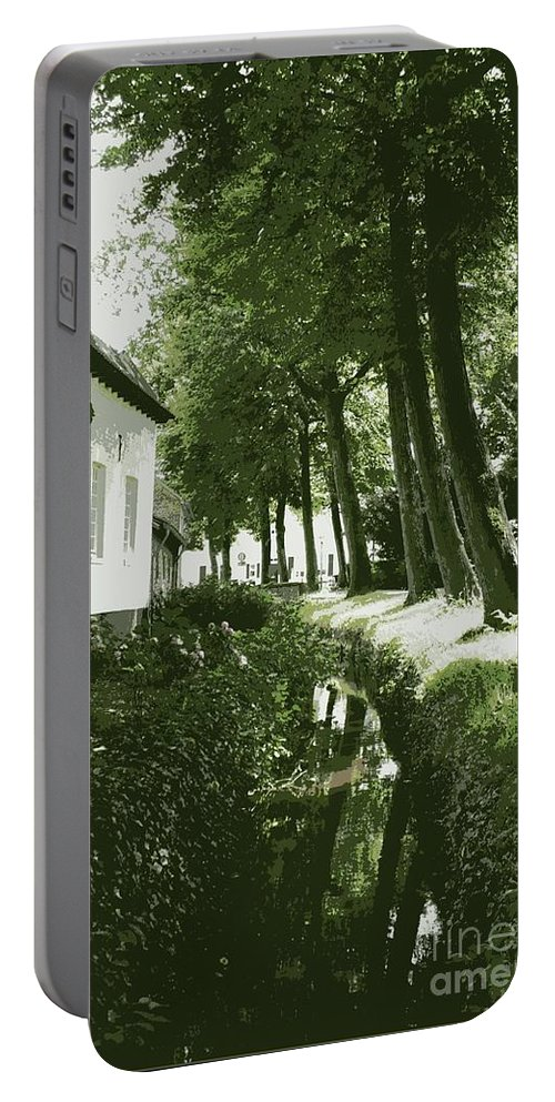 Dutch Portable Battery Charger featuring the photograph Dutch Canal - Digital by Carol Groenen
