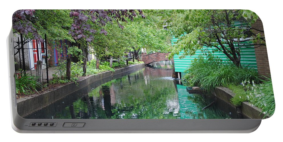 Dutch Portable Battery Charger featuring the photograph Dutch Canal by Jost Houk