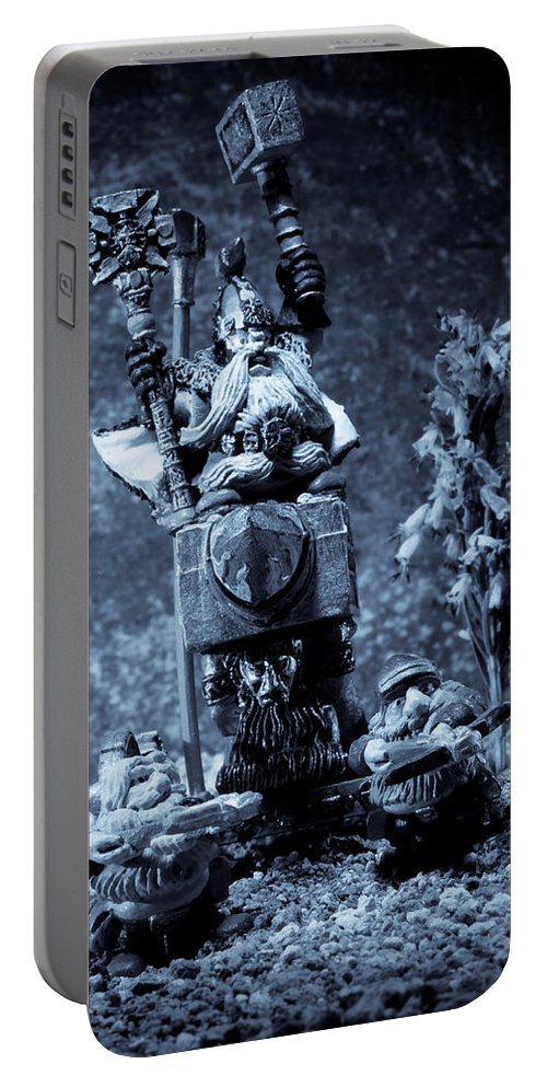 Fantasy Portable Battery Charger featuring the photograph Dwarven Holy Anvil by Marc Garrido