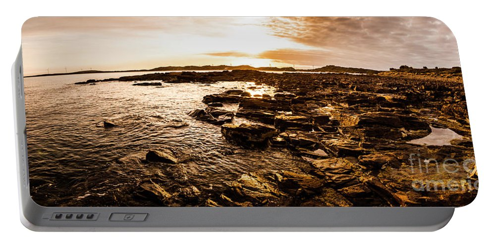 Panorama Portable Battery Charger featuring the photograph Dynamic Ocean Panoramic by Jorgo Photography - Wall Art Gallery